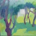 Liliane Camier - Bois d'érables n°4– 2015 – 14 cm x 22 cm – huile sur toile