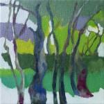 Liliane Camier - Bois d'érables n°6 – 2016 – 20 cm x 20 cm – huile sur toile
