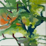 Liliane Camier - Bois d'érables n°7 – 2016 – 20 cm x 20 cm – huile sur toile