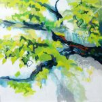 Liliane Camier De quoi l'arbre est-il le lieu ? n°1- 2017 - 80 cm x 80 cm huile sur toile