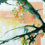 Liliane Camier - Entre les branches - 2017 - 30 cm x 60 cm - acrylique et huile sur toile