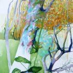 Liliane Camier- Orné pour la saison froide, l'arbre – 2018 - 130 cm x 97 cm - huile sur toile