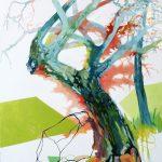 Liliane Camier - Le travers par hasard – 2018 - 130 cm x 97 cm - huile sur toile