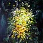 Liliane Camier - Sous-bois, souvenirs d'enfance - 2013 - 195 cm x 130 cm – acrylique et huile sur toile