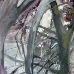 Liliane Camier - Volubilité et silence - 2013 – 195 cm x 97 cm – acrylique et huile sur toile