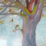 Liliane Camier - L'ouvrage du vent - 2014 – 195 cm x 114 cm – acrylique et huile sur toile
