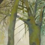 Liliane Camier - Dénudés, lumière grise - 2014 – 195 cm x 97 cm – acrylique et huile sur toile