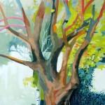 Liliane Camier - L'élan revenu – 2014 – 195 cm x 114 cm – acrylique et huile sur toile