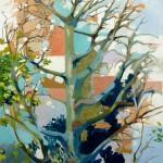 Liliane Camier - Un vent doux entre les branches - 2014 - 116 x 83 cm – acrylique et huile sur toile