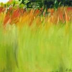 Liliane Camier - Champs colorés I – 2014 - 22 cm x 33 cm – acrylique et huile sur toile
