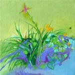 Liliane Camier - En lisière - 01 – 2014 - 20 cm x 20 cm – acrylique et huile sur toile