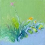 Liliane Camier - En lisière - 02 – 2014 - 20 cm x 20 cm – acrylique et huile sur toile