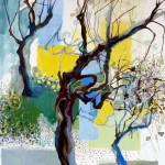Liliane Camier - L'altérité – Présences ou territoires - 2011 – acrylique et huile sur toile – 130 cm x 97 cm