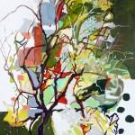 Liliane Camier - L'altérité – Qui est qui ? - 2012 – acrylique et huile sur toile – 130 cm x 97 cm