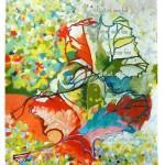 Liliane Camier - Le début – 2013 – acrylique sur toile libre lin ou coton – 199 cm x 97 cm