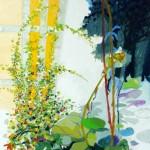 Liliane Camier - série Sol et Corolles – Vers la bordure – 2012 – acrylique et huile sur toile – 195 cm x 97 cm