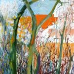 Liliane Camier - Branches nues – 116 cm x 73 cm – huile sur toile – 2011