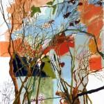 Liliane Camier - Ville en bribes, branches insoumises – 116 cm x 73 cm – huile sur toile – 2011