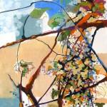 Liliane Camier - Branches après la pluie – 116 cm x 73 cm – huile sur toile – 2011
