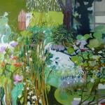 Liliane Camier - Flaque Verte – 2010 – 150 x 180 cm – huile sur toile