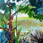 Liliane Camier - Le dit de la souche d'aulne – 2010 – 150 x 120 cm – huile sur toile