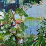 Liliane Camier - Embrassement des lacs et des étangs – 2010 – 150 x 130 cm – huile sur toile