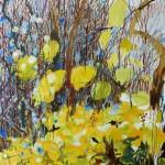 Liliane Camier - La friche – 97 x 193 cm – huile sur toile – 2010