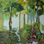 Liliane Camier - Lisière – 2010 – 100 x 100 cm – huile sur toile