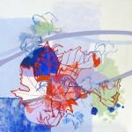 Liliane Camier - série Vigne rouge N°6, l'ombre – 80 cm x 80 cm - huile sur toile – 2010