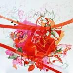 Liliane Camier - série Vigne rouge N°5 – 80 cm x 80 cm - huile sur toile – 2010