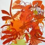 Liliane Camier - Vigne rouge II - 2010 – huile sur toile – 120 x 120 cm