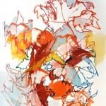 Liliane Camier - série « Le dedans du dehors » Matins froids en attendant la pluie – 2010 – 130 x 97 cm – huile sur toile