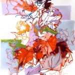 Liliane Camier - série « Le dedans du dehors » Un printemps au cœur de l'hiver – 130 cm x 97 cm – huile sur toile