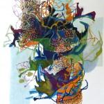 Liliane Camier - série « Le dedans du dehors » Fouillis de feuilles – 2010 – 130 cm x 97 cm – huile sur toile