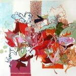 Liliane Camier - Composition aux Feuilles entêtées – 2010 – 162 x 130 cm – huile sur toile