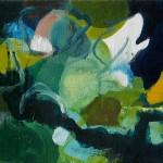 Liliane Camier - série «Les Feuilles» – 2009 – 20 cm x 60 cm – huile sur toile