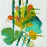 Liliane Camier - série «Les Feuilles» – 2009 – 20 cm x 20 cm – huile sur toile