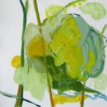 Liliane Camier - 21 – série «Les Feuilles» XIV – 2009 – 30 cm x 30 cm – huile sur toile