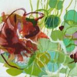 Liliane Camier - série «Les Feuilles» XXIV – 2009 – 27 cm x 35 cm – huile sur toile