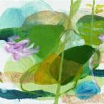 Liliane Camier - série «Les Feuilles» XXVI – 2009 – 35 cm x 27 cm – huile sur toile