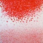 Liliane Camier - Blanc / Rouge - 150 cm x 130 cm – acrylique sur toile – 2008