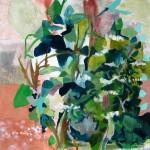 Liliane Camier - Description romantique – 100 cm X 100 cm - acrylique sur toile – 2008