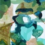 Liliane Camier - Sous le feuillage – 100 cm X 50 cm - huile sur toile – 2008