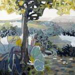 Liliane Camier - En contre jour, le matin – 2009 - huile/toile – 100 cm x 100 cm