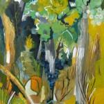 Liliane Camier - La pente – 195 cm x 97 cm – huile sur toile – 2009