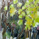 Liliane Camier - Au début, le silence - 195 cm x 97 cm – huile sur toile